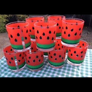 🦋New Listing🦋1960's STOTTER Watermelon Glasses